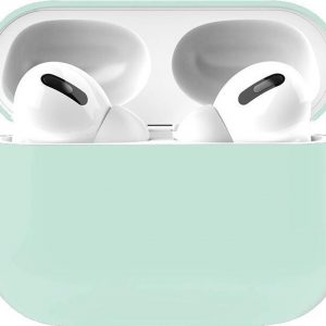 Apple Airpods Pro Siliconen - Case - Hoesje - Geschikt voor Apple Airpods Pro - Licht Blauw
