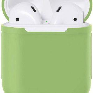 Apple Airpods Siliconen - Case - Cover - Hoesje - Speciaal voor Apple Airpods 1 en 2 - Groen
