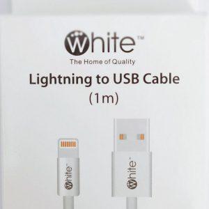 Apple - Lightning kabel - 1 meter - White - Geschikt voor iPhone, iPad en Airpods