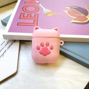 Apple airpod case / hoesje beschermer Katten poot roze