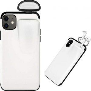 Apple iPhone XS MAX - Beschermhoesje met AirPods houder 2 in 1 - Wit