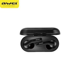 Awei 2019 Oordoppen T10C - Bluetooth V5.0 - + Oplaad Case - Airpods - Apple en Samsung - Zwart