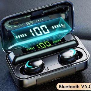 BT Oordopjes - Wireless Headphones F9 - Draadloos - Draadloze Oordopje - Oortjes - Bluetooth - Oor - Earpods - In Ear - Earbuds - Airpods - Koptelefoon - Bluetooth TWS 5.1 Oortjes - Zwart | voor hem en haar