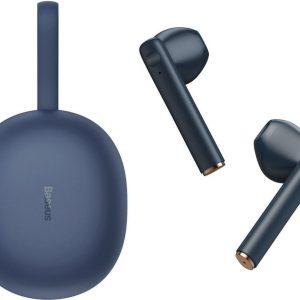 Baseus W05 - Premium Draadloze Oordopjes - Geschikt voor Apple iPhone en Samsung /Android - Blauw