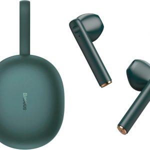 Baseus W05 Premium Draadloze Oordopjes Geschikt voor Apple iPhone en Samsung /Android - Groen