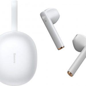 Baseus W05 Premium Draadloze Oordopjes Geschikt voor Apple iPhone en Samsung /Android - Wit