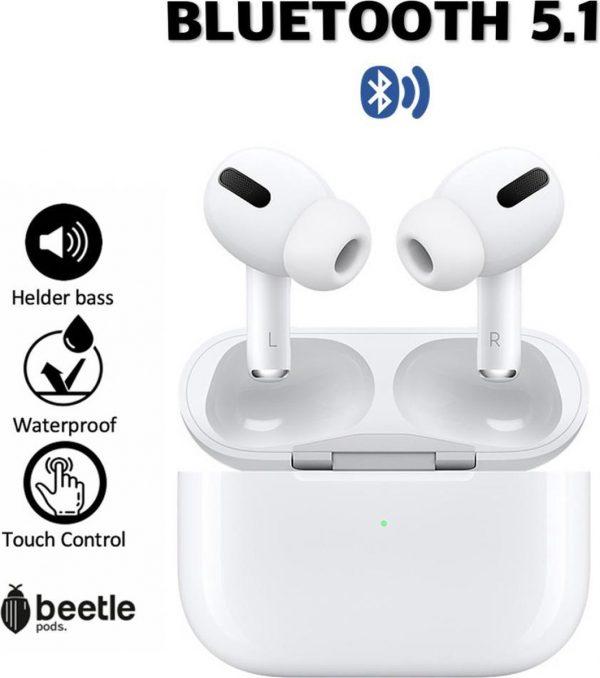 Beetle pods Pro - Airpods Pro Alternatief - Draadloze oordopjes - Extra Bass - Wireless Bluetooth oordopjes earphones - Waterproof Earbuds - Draadloze koptelefoon - Voor Apple en Android