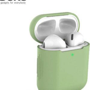 Bescherm Hoes Cover Case voor Apple AirPods (Siliconen) - Lichtgroen