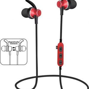 Bluetooth in-ear draadloze oordopjes iPhone / Samsung / Huawei / bluetooth oortjes - MS-T4 rood