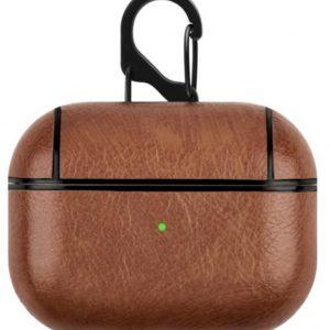 Brooklyn Premium - Airpods Pro case - Licht bruin - Leder - Beschermhoesje - Lederen case - Case - Cover - Airpods PRO