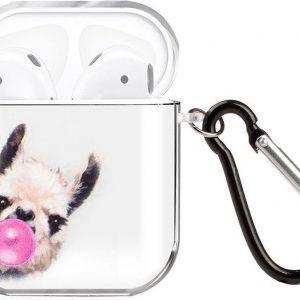 By Qubix - AirPods 1/2 hoesje Painting series - hard case - Alpaca - Schokbestendig - AirPods hoesjes