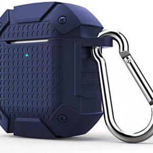 By Qubix - AirPods 1/2 hoesje schokbestendige harnas - soft case - donkerblauw - AirPods hoesjes