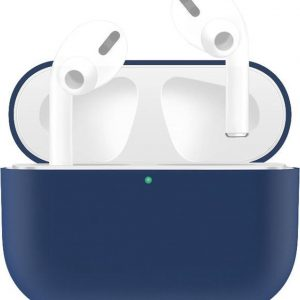 By Qubix - AirPods Pro Solid series - Siliconen hoesje - Blauw - AirPods hoesjes