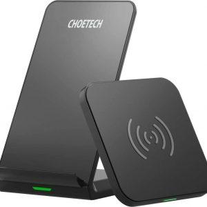 CHOETECH Draadloze Oplader Qi [2-pack], 10W voor iPhone Samsung, Huawei en AirPods 2