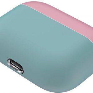 Case Cover Voor Apple Airpods Pro- Siliconen design-Groen-Roze | Watchbands-shop.nl