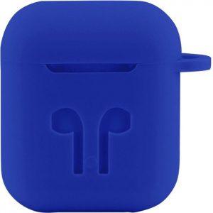 Case Cover Voor Apple Airpods - Siliconen Blauw | Watchbands-shop.nl