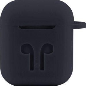 Case Cover Voor Apple Airpods - Siliconen Donkergrijs | Watchbands-shop.nl
