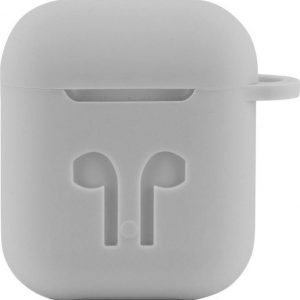 Case Cover Voor Apple Airpods - Siliconen Grijs | Watchbands-shop.nl