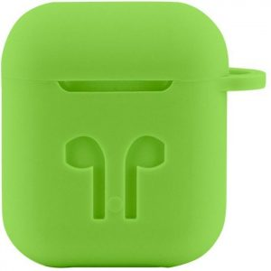 Case Cover Voor Apple Airpods - Siliconen Groen | Watchbands-shop.nl