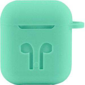 Case Cover Voor Apple Airpods - Siliconen Mintgroen | Watchbands-shop.nl