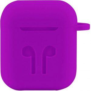 Case Cover Voor Apple Airpods - Siliconen Paars | Watchbands-shop.nl