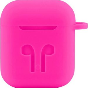 Case Cover Voor Apple Airpods - Siliconen Roze | Watchbands-shop.nl