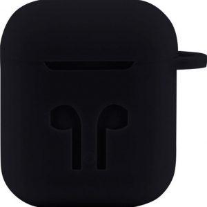 Case Cover Voor Apple Airpods - Siliconen Zwart | Watchbands-shop.nl
