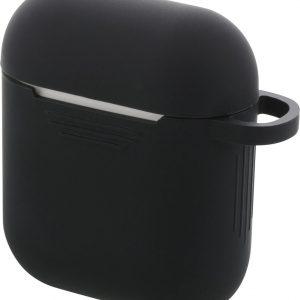 DELTACO MCASE-AIRPS001 Zachte siliconen hoes voor oplaadcase AirPods - Gripvriendelijk - Zwart