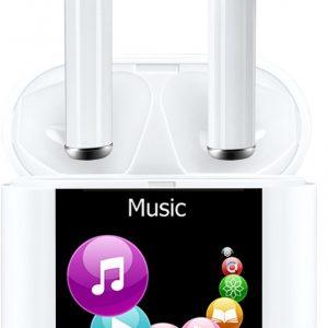 Denver TWM-850 - Draadloze earbuds / Los te gebruiken of icm MP4 speler / Met oplaadcase