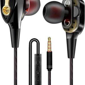 DrPhone HiFi2 Pro - 3.5mm Oortjes - Dual Dynamische Drivers - In-Ear Oordopjes - Hifi - Oortelefoon - Zwart