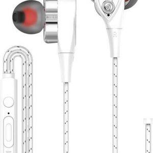 DrPhone HiFi2 - USB-C Oortjes - Dual Dynamische Drivers - In-Ear Oordopjes - Hifi - Oortelefoon (Geen DAC Ondersteuning) - Smartphone / Tablet -Wit