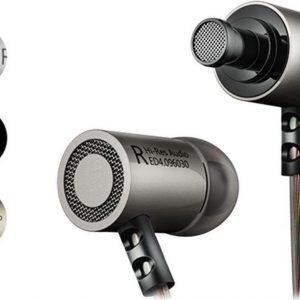 DrPhone KZ4® HiFi In-Ear - 3.5mm Jack - Hi-Res met BASS Oortelefoon met microfoon & Geluidsisolerende Oordoppen - IOS / Android Gun Gray