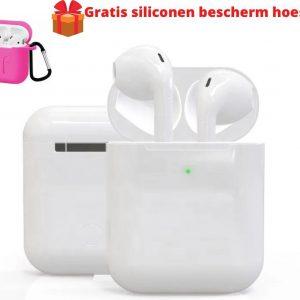 Draadloze Bluetooth Oordopjes + Gratis Siliconen Bescherm Hoesje - Alternatieve Airpods - Bluetooth 5.0- Oortjes - In-Ear koptelefoon - Draadloze oordopjes - Wit