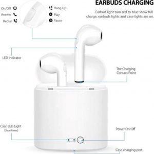 Draadloze Oordopjes - Wireless Earphones - Draadloos - Draadloze Oortjes - Bluetooth Oordopjes - Oor - Earpods - Bluetooth Oortjes - Oordop - wit