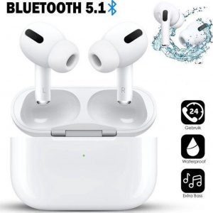 Earbuds Pro - Draadloze oordopjes Extra Bass - Wireless Bluetooth 5.1 oortjes - Airpods pro   Airpods 1/2 alternatief - inclusief GPS - Waterproof Earbuds