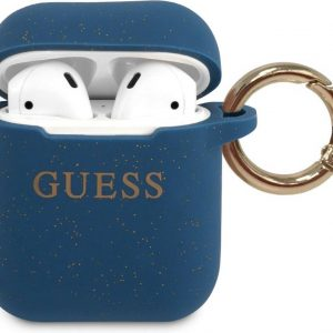 GUESS Silicone Case AirPods 1 / AirPods 2 - Blauw