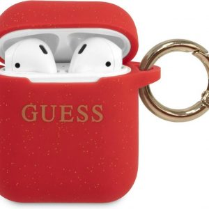 GUESS Silicone Case AirPods 1 / AirPods 2 - Rood
