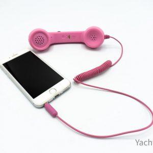 Handset mobiele telefoon - roze - kado mannen - kado kinderen - kado vrouwen - alleen voor - iphone - airpods - topcadeaus - fun -