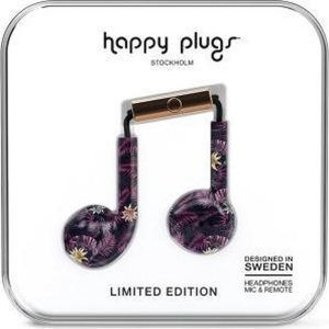 Happy Plugs Earbud Plus - In-ear oordopjes - Paars/Roze botanisch
