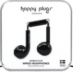 Happy Plugs Earbud Plus - In-ear oordopjes - Zwart