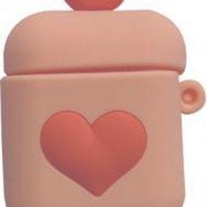 Hidzo Hoes voor Apple's Airpods 1/2 - Hartje - Licht Roze - Siliconen
