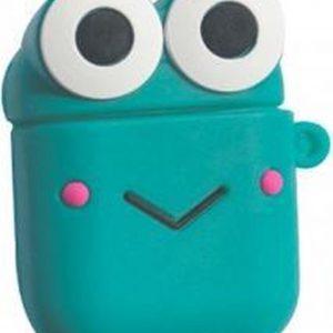 Hidzo Hoes voor Apple's Airpods 1/2 - Smile - Groen - Siliconen