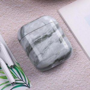 Hidzo hoes voor Apple's Airpods - Hard Case - Marmer Look - Grijs