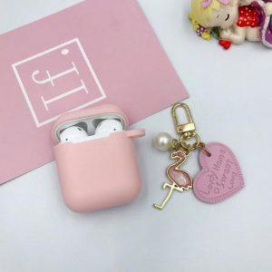 Hidzo hoes voor Apple's Airpods - Siliconen - Love - Roze