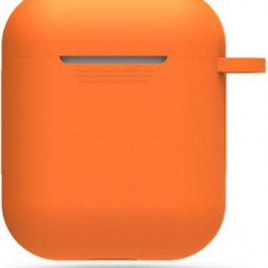 Hidzo hoes voor Apple's Airpods - Siliconen - Oranje