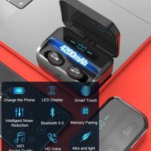 Hoco - Draadloze oordopje - Bluetooth 5.0 Headset -Koptelefoon -Hoofdtelefoon - Oortelefoon - - Sport oortjes - - Sport oortjes - - Geschikt voor Android -Smart Phone - Voor iPhone -Sumsung -Huawei, LG, Smart Phone