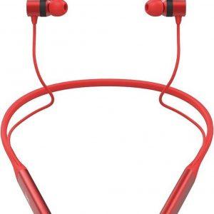 Hoco S18 - 2 in 1 Sport Rood - Draadloze Bluetooth in-ear oortjes met nekband - Magnetisch - IPX5 - Hi-Res
