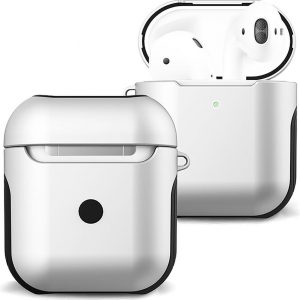 Hoes Voor Apple AirPods Case Hoesje Hard Cover - Wit