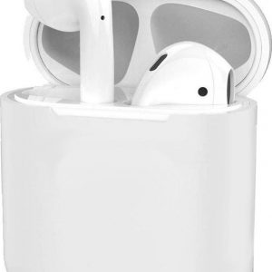 Hoes voor Apple AirPods 1 Case Silicone Hoesje Ultra Dun - Transparant