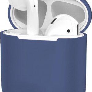 Hoes voor Apple AirPods 1 Case Siliconen Hoesje Ultra Dun - Blauwgrijs
